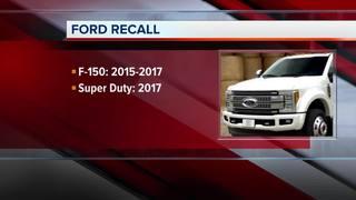 Ford recalling 1.3 million F-series pickups