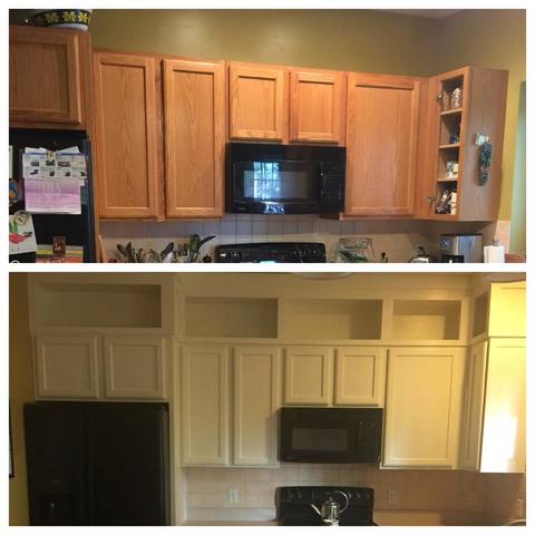 Medium image of  u201ci paint kitchen cabinets u201d she explains   u201ci take 80 u0027s oak 90 u0027s maple and i give it a new look  u201d