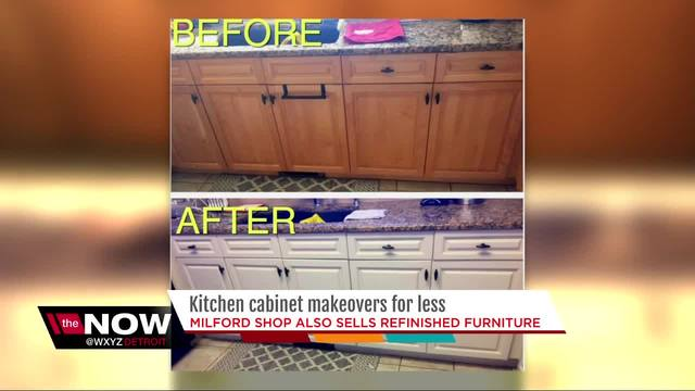 Milford Business Owner Gives Kitchen Cabinets A New Look