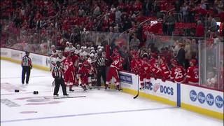 WATCH: Red Wings and Flames brawl in wild fight