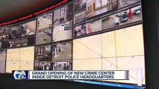 Detroit police open new real time crime center