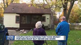Couple say contractor took money, didn't do work