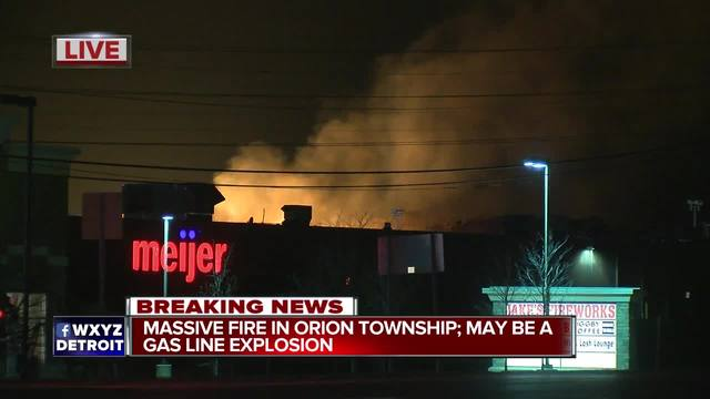 Huge gas line fire forces evacuations in suburban Detroit