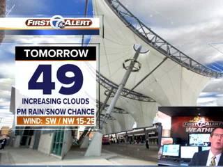FORECAST: Rain/snow chance Tuesday