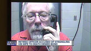 Ex-cop accused of strangling wife denied bond