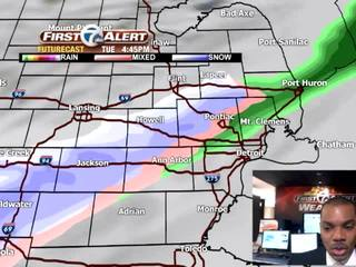 FORECAST: Rain chance with light snow poss. late