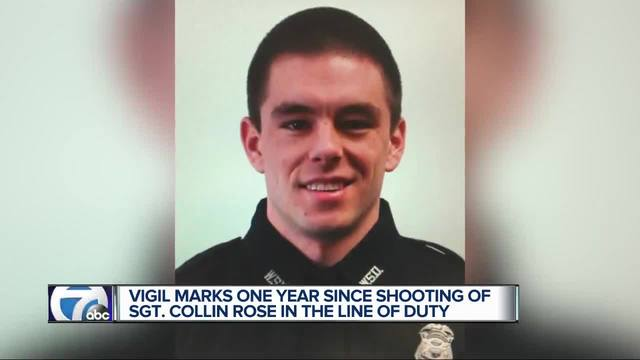 Candlelight vigil honors WSU Police Sgt- Collin Rose one year after his death