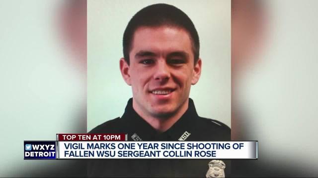 Vigil marks one year since shooting of fallen WSU Sergeant Collin Rose