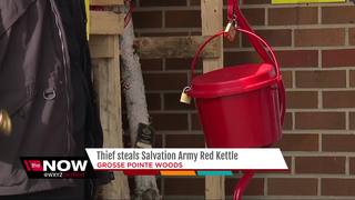 Thief steals Salvation Army Red Kettle from...