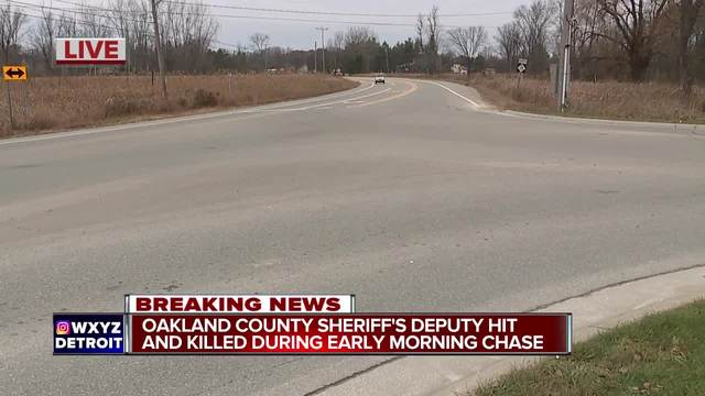 Oakland County Sheriff-s deputy hit and killed during early morning chase