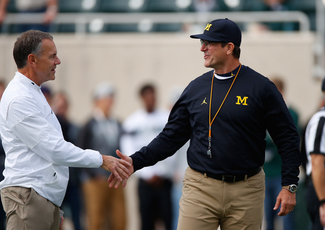 Jim Harbaugh fires back at Mark Dantonio's 'beating Michigan' swipe