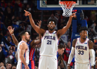 Embiid waves goodbye to Drummond, Pistons in win