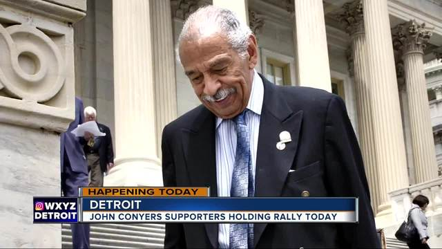 Supporters of Rep. John Conyers are planning to hold a rally today