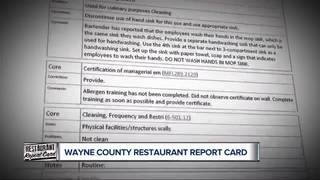 Inspector reports show issues at restaurants