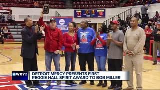 Detroit Mercy presents Reggie Hall Spirit Award