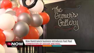 You can now play footpool in Hamtramck!