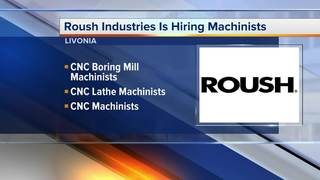 Roush Industries is hiring machinists in Livonia