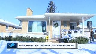 Lions help family get into new home for holidays