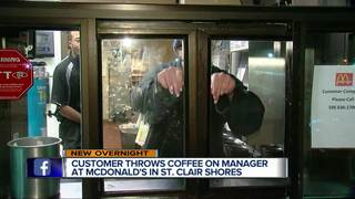 Man throws coffee on local McDonald's manager