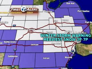 FORECAST: Winter Storm Warning begins at 10am