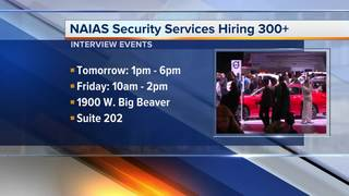 NAIAS needs to fill 300+ security jobs