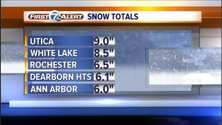 This is how much snow fell in metro Detroit