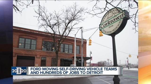 Ford to move autonomous vehicle business to Detroit (F)