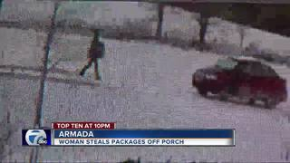 Package thief caught on surveillance cameras