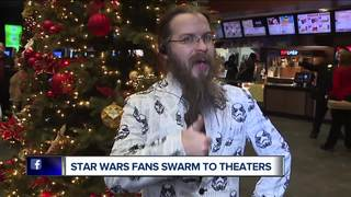 Big Star Wars fans excited about new movie