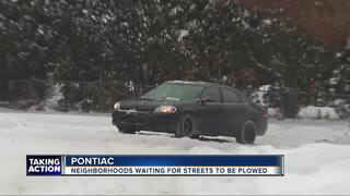 Pontiac neighborhoods waiting for snow plows