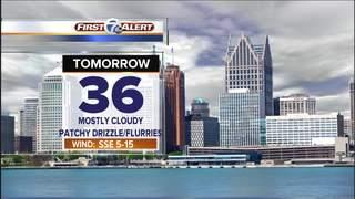 Forecast: Milder temperatures Sunday