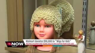 Walmart donates $90k to Wigs for Kids