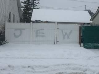 Mayor upset over anti-Semitic graffiti on fence
