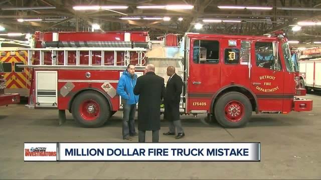 1 Million Dollar Fire Truck >> Million dollar mistake? Detroit fire truck purchase under scrutiny - WXYZ.com