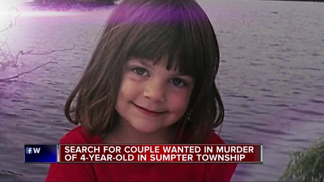 Police looking for MI  couple charged with murder of 4-year-old