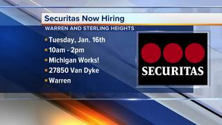Securitas is hiring dozens