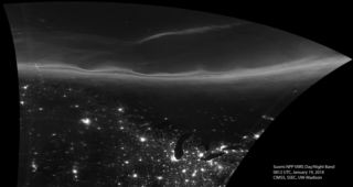 Photo: Northern Lights over the Great Lakes