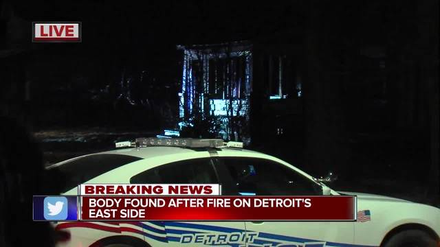 Detroit firefighters discover body after extinguishing fire in vacant home