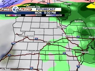 Forecast: Gray & damp Monday