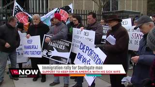 Protesters fear wife's death if man is deported
