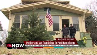 Mother and son found dead in their home
