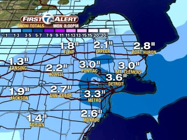 Rain Thursday afternoon with snow Thursday night