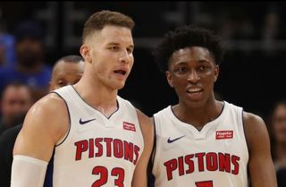 Pistons top Blazers; 4-0 since Griffin deal