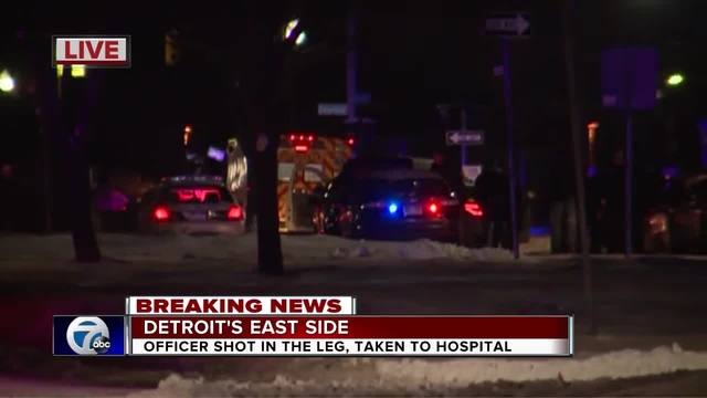 Detroit officer shot, suspect barricades himself in home