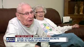 Couple shares secret to 70 years of marriage