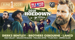 Dierks Bentley headlining 2018 99.5 WYCD Hoedown