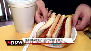 Want to lose weight? Try eating slower