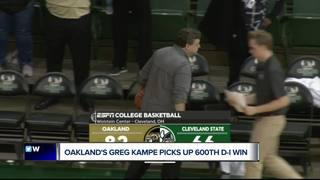 Oakland wins for Kampe's 600th D-I victory