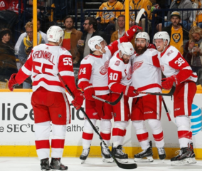 Witkowski scores first NHL goal in Red Wings win