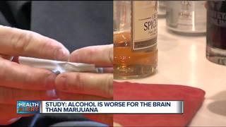Study: Alcohol worse than marijuana for brain